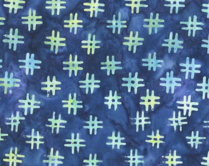 Denim Blue # Hashtags Fabric, QE3 Miniatures: 412Q-4 Denim, Anthology Fabrics Quilt Essentials Batiks