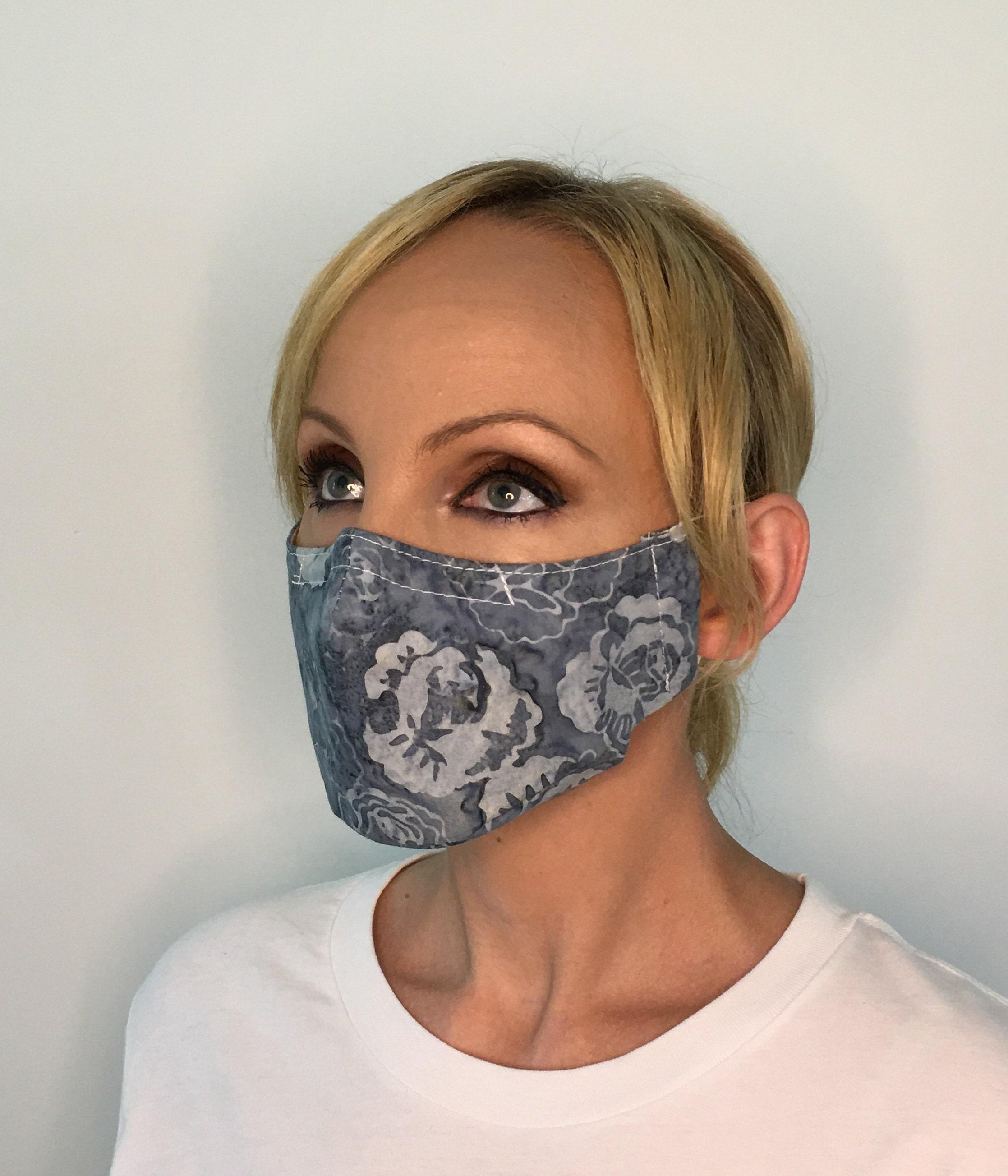 Reusable Face Mask Blue Floral - OAKI