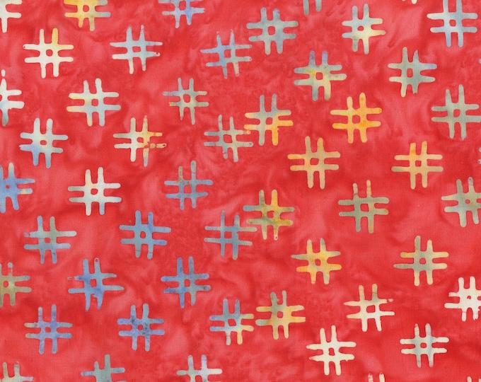 Red # Hashtags Fabric, QE3 Miniatures: 412Q-1 Apple, Anthology Fabrics Quilt Essentials Batiks