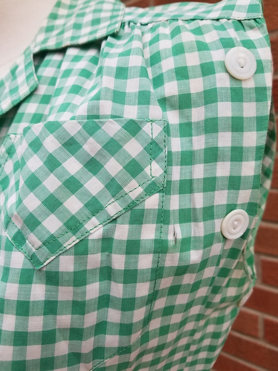 1940s 50 gingham cotton day dress