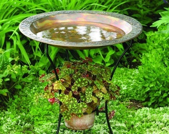 Garden with a Birdbath Pendant