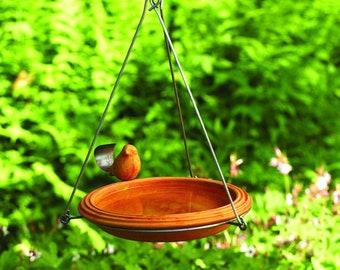 Hanging Spice Bird Bath by Happy Gardens, Birdbath Decor, Bird Watcher Gift, Bird Lover Gift, Garden Decor, Gift for Home, Gardener Gift