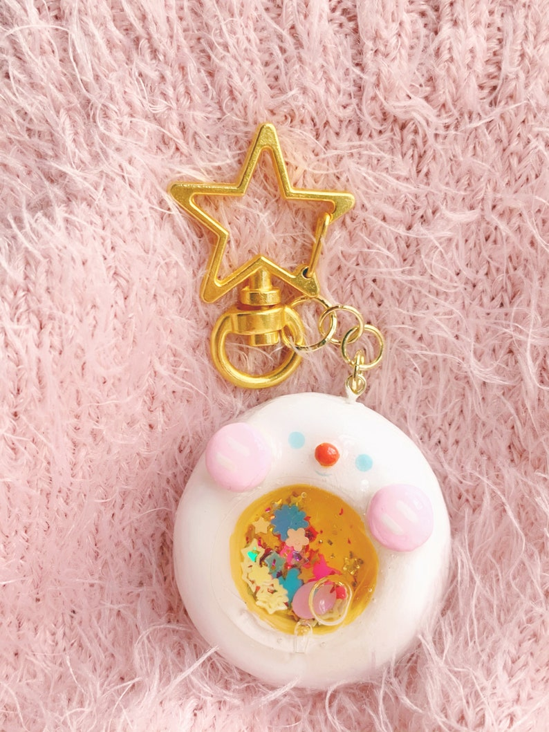 Cute Weatherproof Vinyl Egg Sticker! Kawaii Egg Shaker Charm Keychain Cute Clay Egg Charm