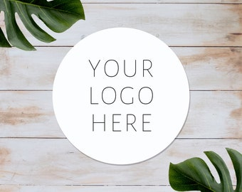 PERSONALISED ROUND PRINTED STICKERS CUSTOM LOGO LABELS BUSINESS SHIPPING