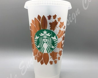 Starbucks Fall Leaves Cup Decal For Starbucks Grande Hot Cup Etsy
