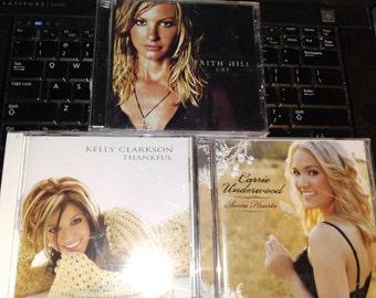 3 CD Deal Faith Hill Kelly Clarkson and Carrie Underwood CD'S