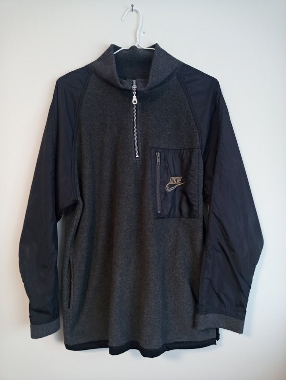 1990's Nike quarter-zip two tone fleece sweater