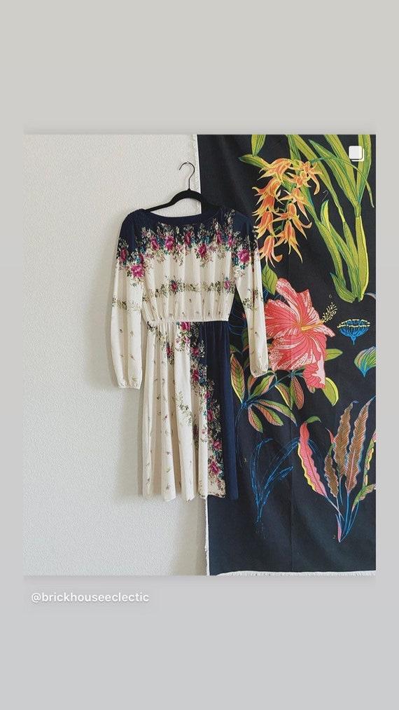 VINTAGE 1980's Floral Dress / Vintage Dress / 80'… - image 7