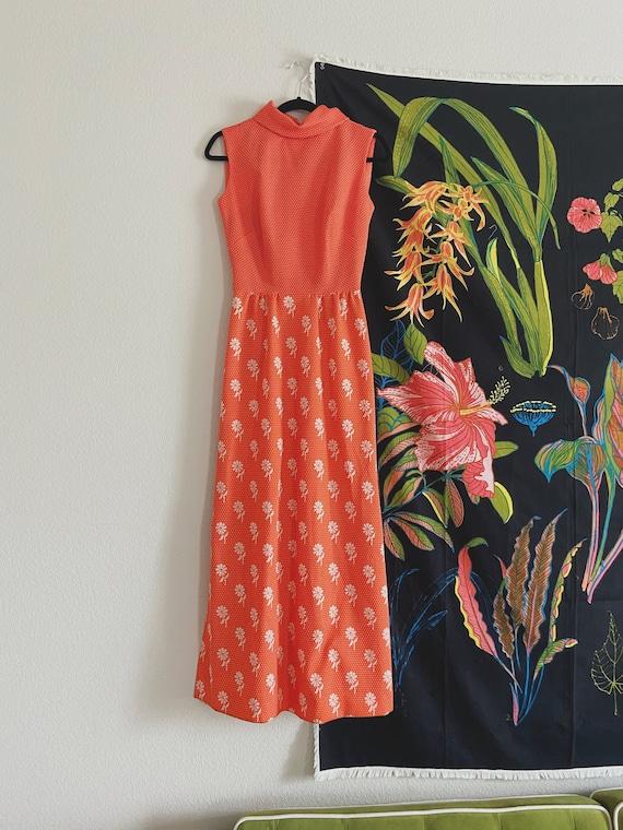 VINTAGE 1970's Floral Maxi Dress / Vintage Dress /