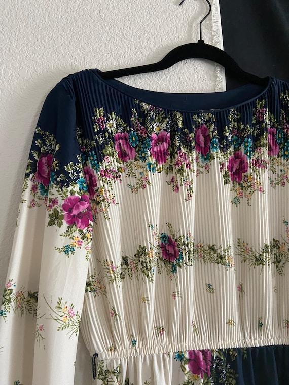 VINTAGE 1980's Floral Dress / Vintage Dress / 80'… - image 3