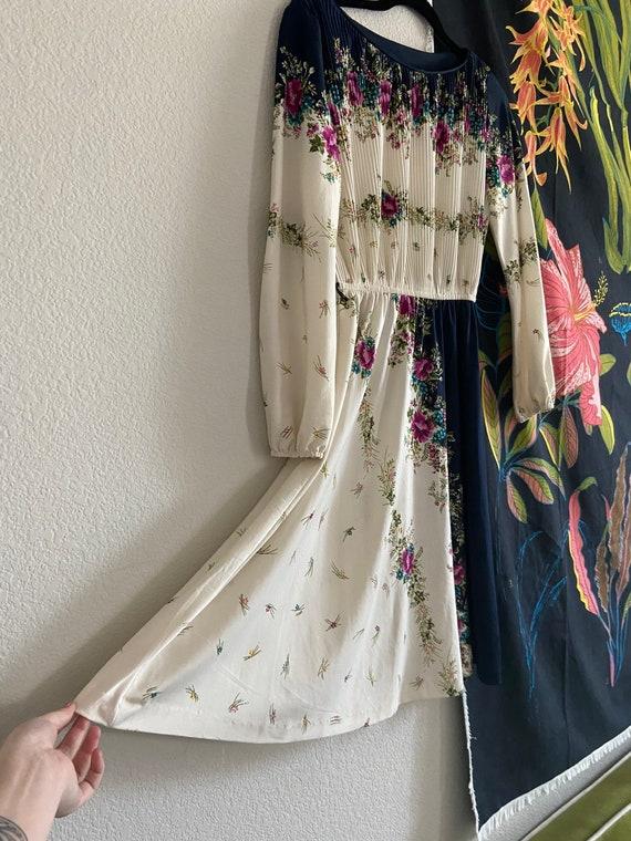 VINTAGE 1980's Floral Dress / Vintage Dress / 80'… - image 5