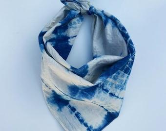 Shibori Indigo Bandana - 100% Cotton - Bohemian
