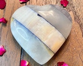 Large Blue Marble Onyx Heart