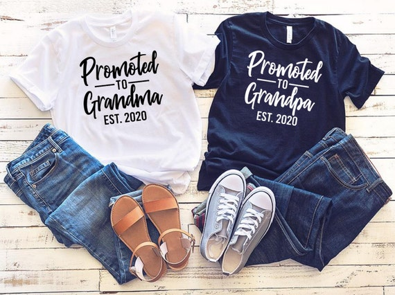 Grandma Grandpa EST 2021 pregnancy announcement grandparents