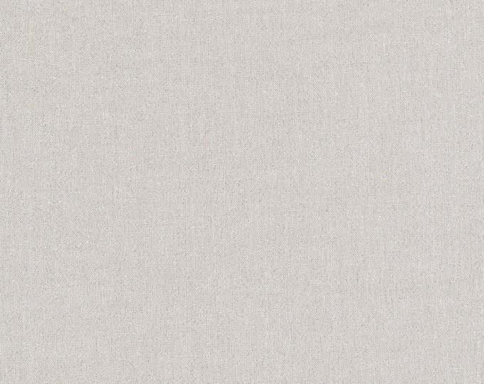 Cloud 9 - Glimmer Solids - Silver - Organic cotton quilting fabric