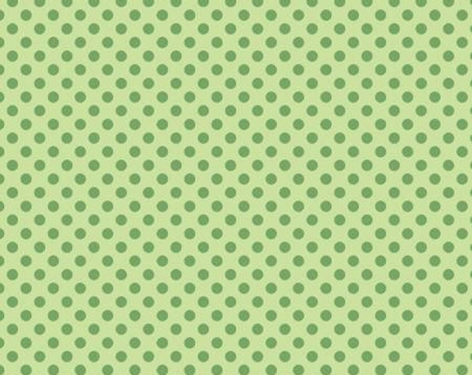 Lime Summer Dots # CX9217-LIME - From Michael Miller Wanderlust by MMF Collection - cotton quilting fabric - by the yard - 1 yard cut