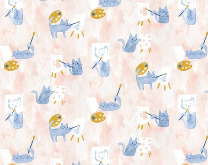 Dear Stella - Creative Cats - Clara Jean -Painting Class - 100% cotton quilting fabric