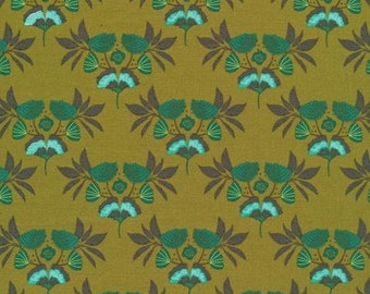 Cloud 9 - Forest Jewels - Emerald Stems - Kate Merritt - Organic cotton quilting fabric - by the yard