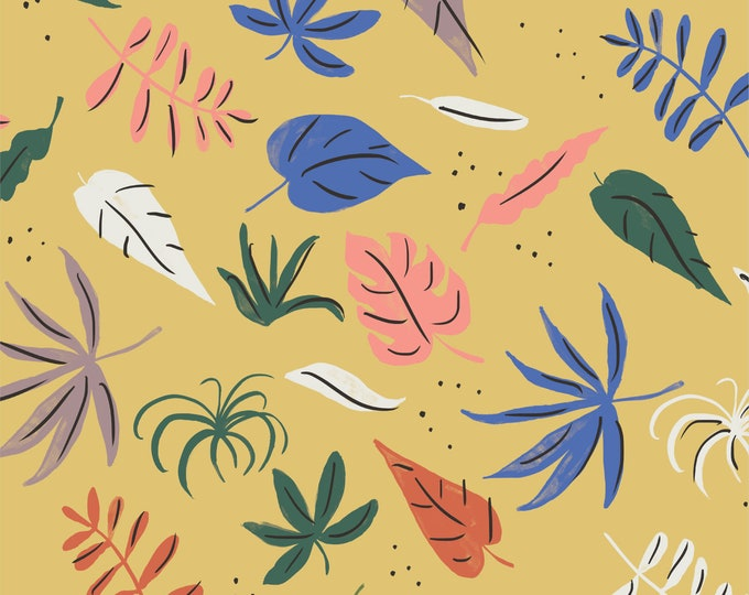 Cloud 9 - Garden of Eden - Verdant - Louise Cunningham - Organic cotton quilting fabric - by the yard