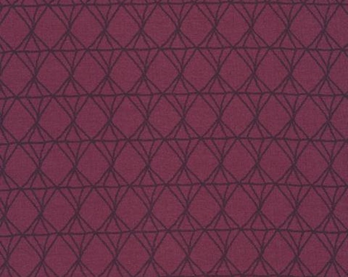 Cloud 9 - Forest Jewels - Diamond Lines - Kate Merritt - Organic cotton quilting fabric