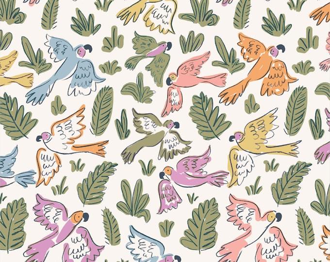 Cloud 9 - Garden of Eden - Joyous Parrots - Louise Cunningham - Organic cotton quilting fabric