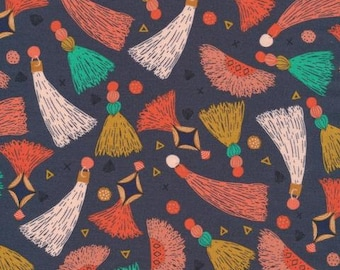 Cloud 9 - Forest Jewels - Tawny Tassels - Kate Merritt - Organic cotton quilting fabric - by the yard