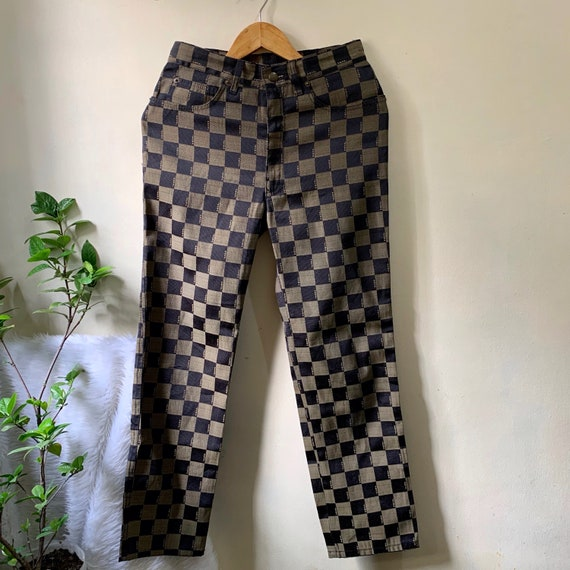 Authentic Vintage Fendi Checkered Pants | zucca 27