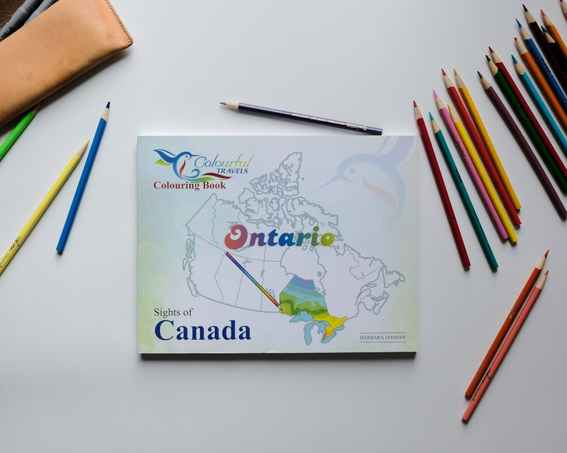Ontario  Sights of Canada Activity and Colouring Books for image 0
