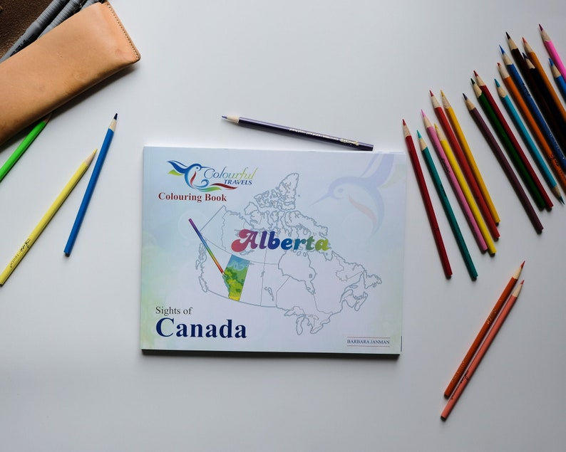 Alberta Sights of Canada Activity and Colouring Books for image 0