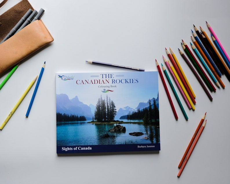 The Canadian Rockies  Sights of Canada Activity and Colouring image 0