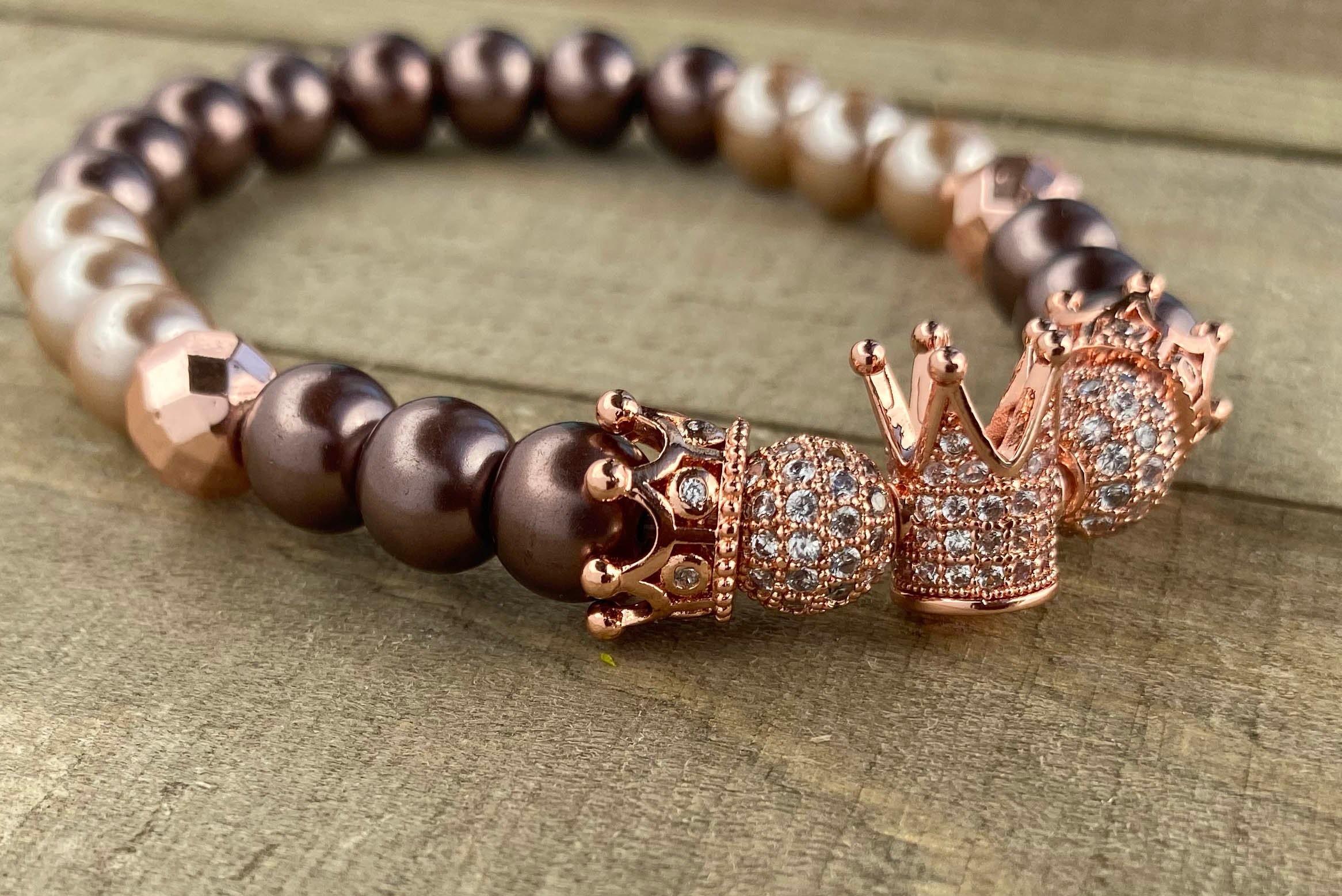Royal Hematit-Crown Bracelet Bracelet Bracelet Rosegold