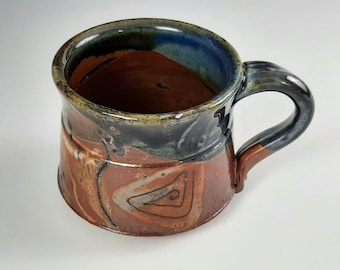 Handcrafted Stoneware Earth-toned Mug