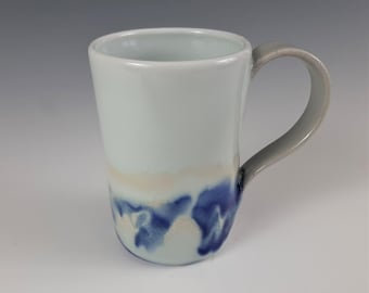 Handcrafted Blue and White mug by Norma Flynn