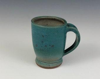 Handcrafted Stoneware Turquoise Mug