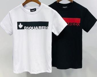 S XL XXL dsquared2 t-shirt for men/_white dsquared2/_white t-shirt/_black wreath