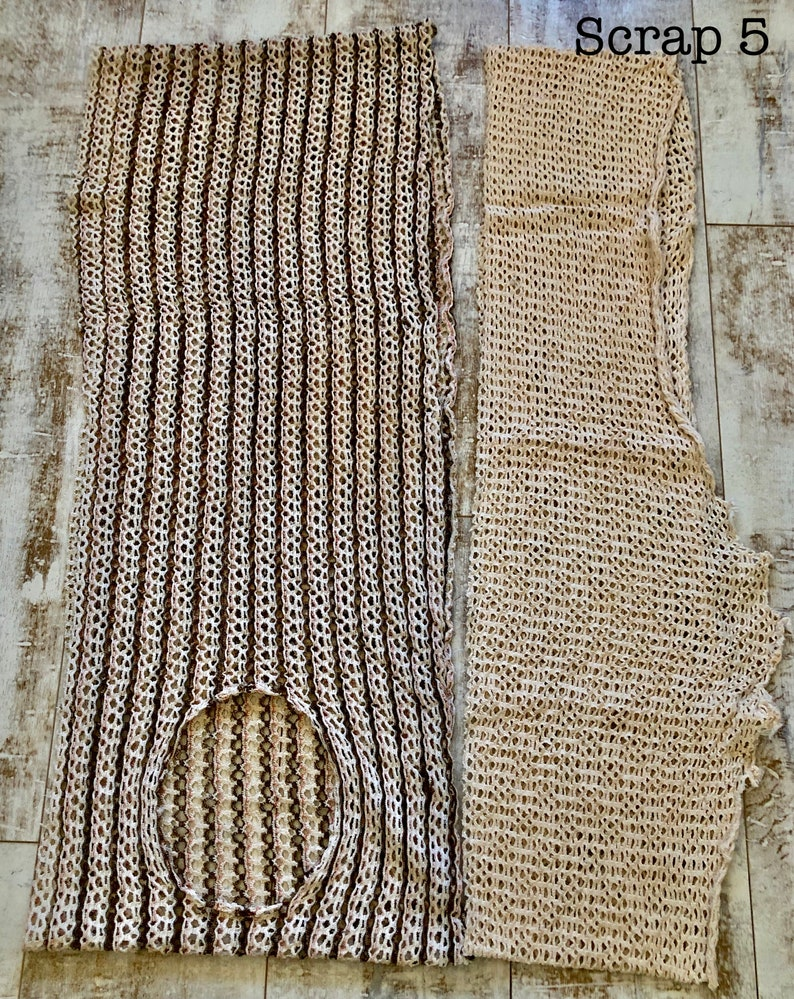 Medium Weight Rescued Vintage Knit Bundles Polyester Vintage Fabric Scraps with imperfections PolyCottons Jersey Knit Remnants