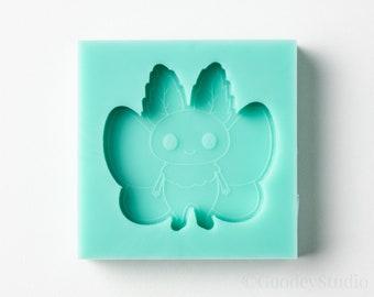 Kawaii Mothman Cryptid Mold, Silicone Mold for Resin, 6mm Casting Mold, Handmade Mold