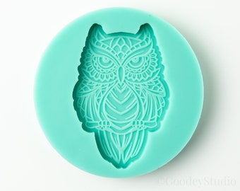Perched Owl Mold, Silicone Mold for Resin, 6mm Casting Mold, Handmade Mold,