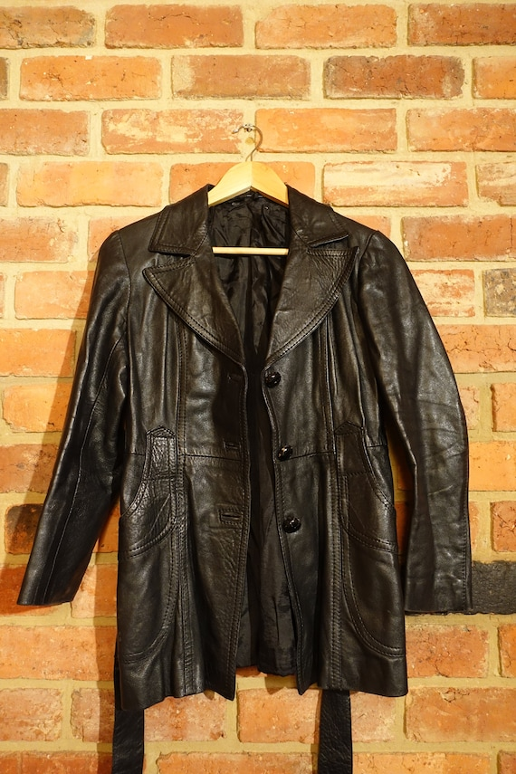 1970's Vintage Black Leather Jacket