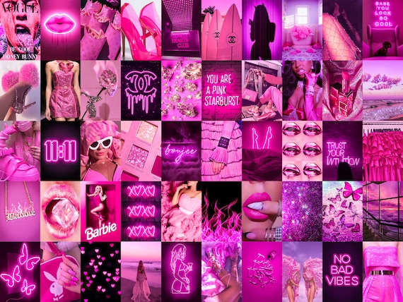 Boujee Pink Neon Photo Collage Kit Hot Pink Aesthetic Baddie Etsy Phone backgrounds neon wallpaper black aesthetic wallpaper aesthetic iphone wallpaper. boujee pink neon photo collage kit hot pink aesthetic baddie room decor teen room wall collage 50 pcs