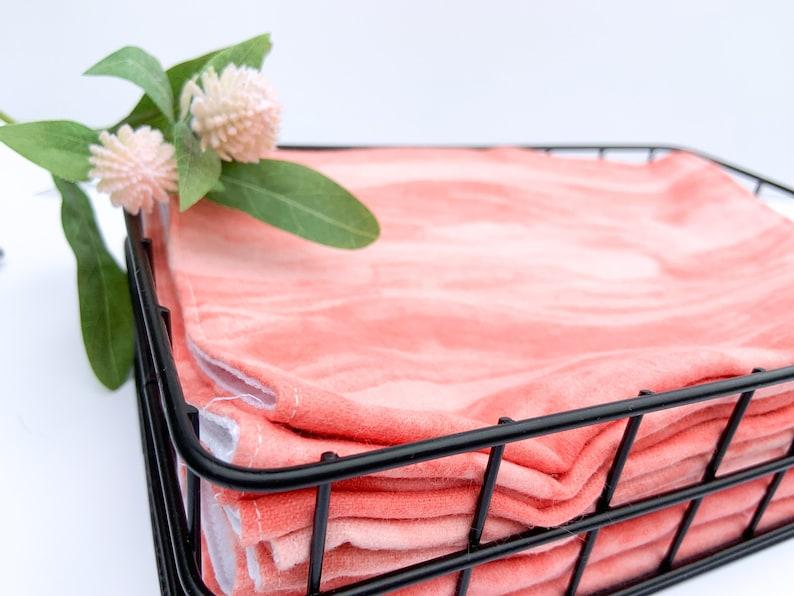 5 Orange Unpaper Towels with Basket Storage Modern Zero Waste image 0