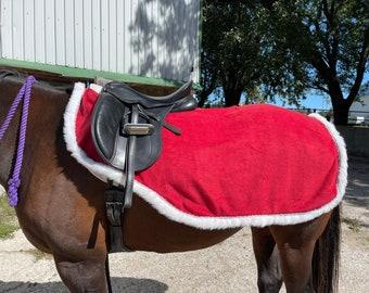 Size Medium Holiday/Christmas Horse RIDING QUARTER SHEET