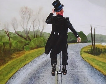 Lonely Road Unicyclist