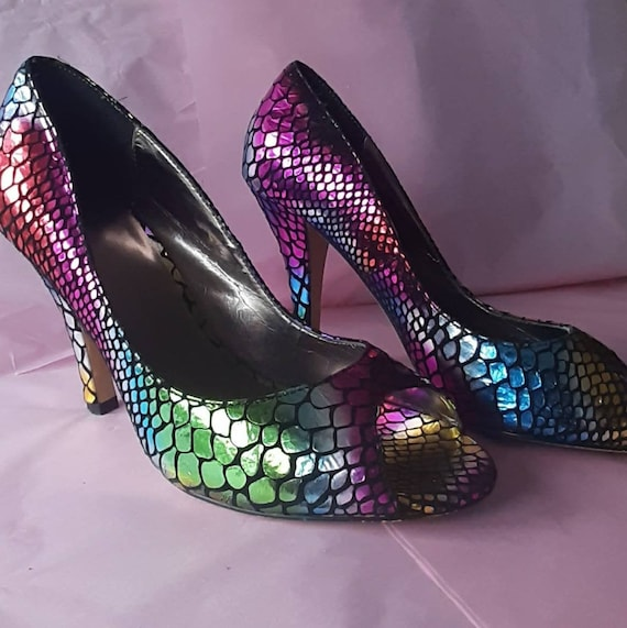 ZU Shoes - Shimmer Shoes - Rainbow Colours High He