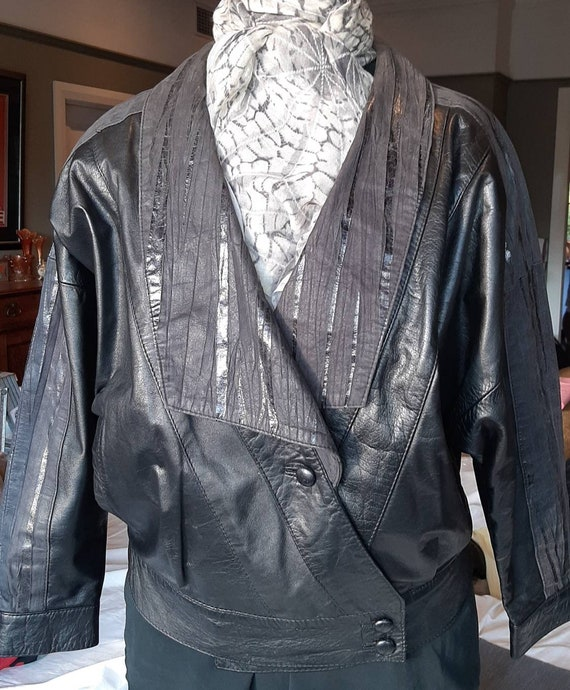 80s Leather Slouch Jacket