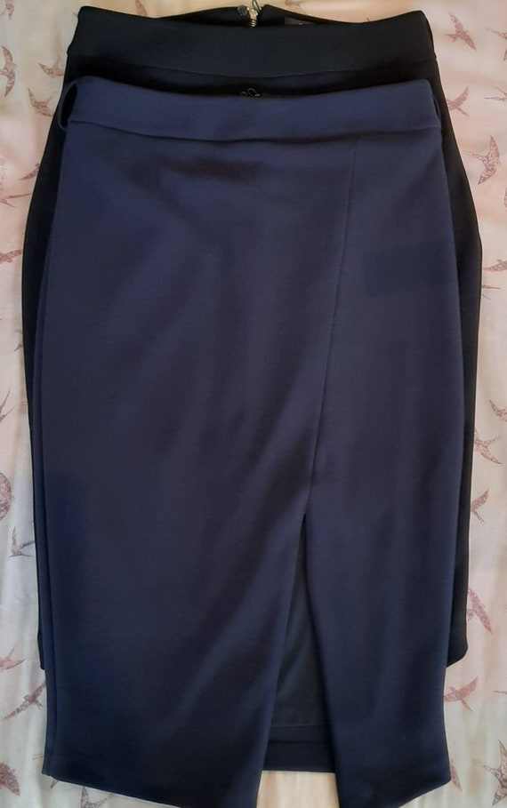 2x Portmans Wiggle Skirts * Navy and Black Portman