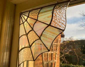 SPIDER WEB CORNER - Spider web Stained Glass - Charm Spider Web - Inspired By Nature - Spider Web Décor