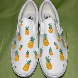 Pineapple Vans Custom Painted Vans Hand