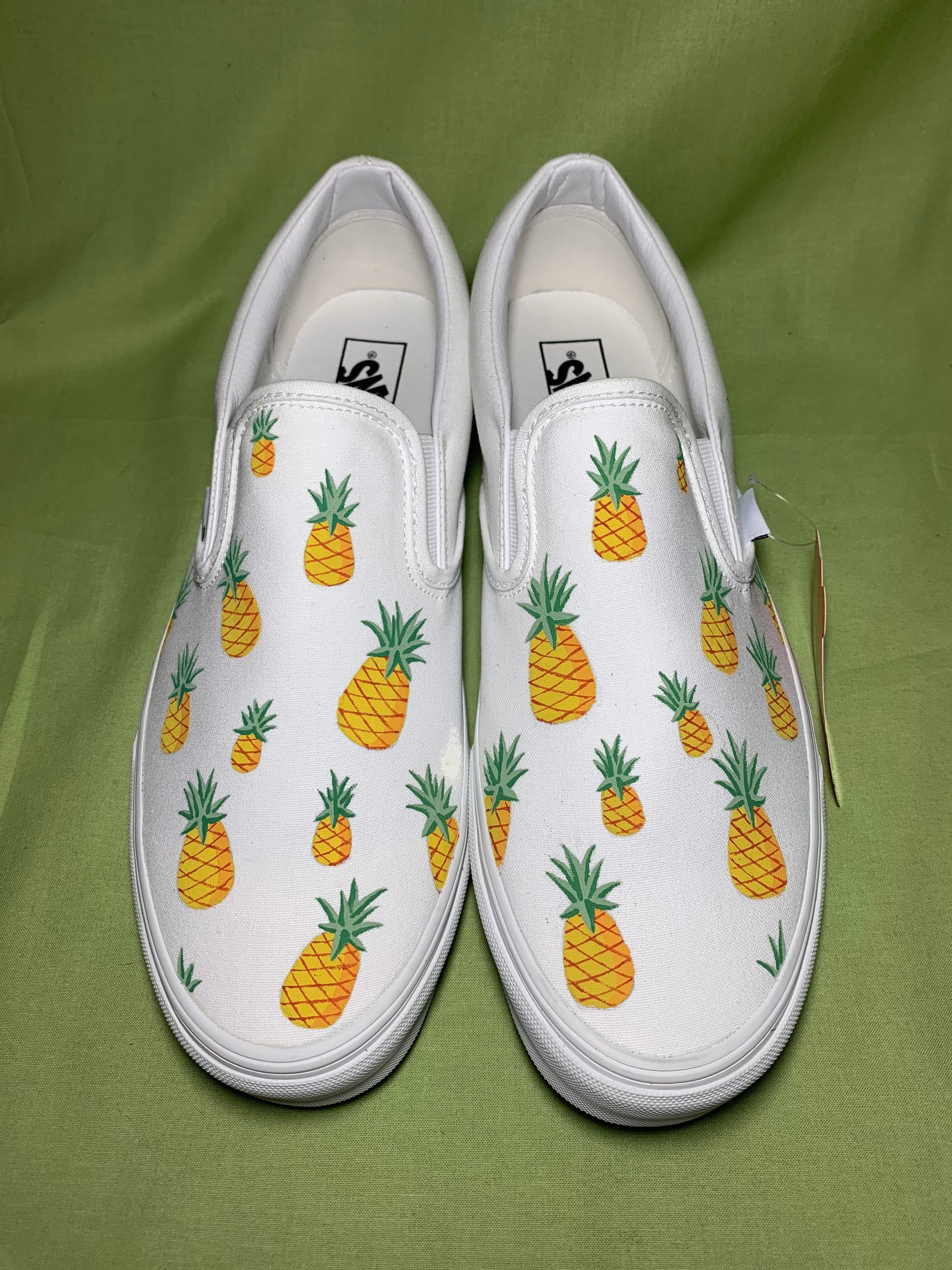 Ananas Vans, Furgoni dipinti in modo personalizzato, scarpe dipinte a mano