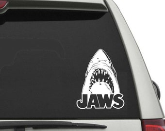 Great White Shark Attack in Ocean JAWS Shark Perforated Window Vinyl Wrap